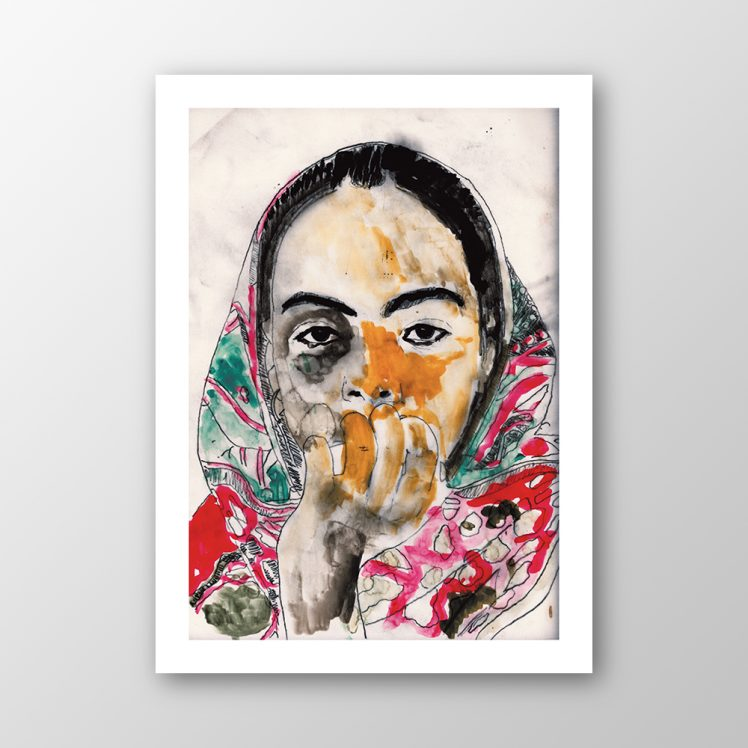 """Tigray Girl"", Thomas Berghaus, Artists for Cap Anamur"