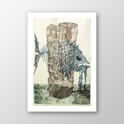 """""""Fisch im Pfahl"""", Dietmar Noworzyn"""