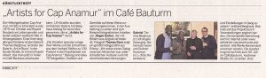 Artists for Cap Anamur im Café Bauturm, Kölnische Rundschau vom 09. Mai 2017