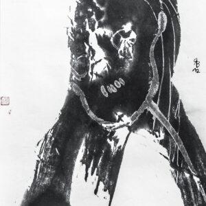 René Böll – Ohne Titel (Chinesische Tusche auf Xuan-Papier)