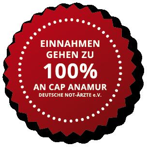 Einahmen gehen zu 100% an Cap Anamur Deutsche Not-Ärzte e.V
