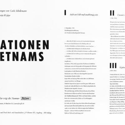 Mappe: Stationen Vietnams (aus dem Besitz von Heinrich Böll)
